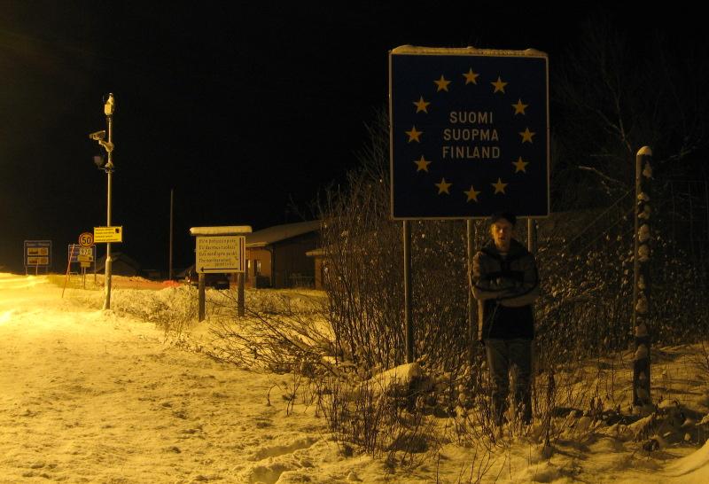 Suomi-Norja-raja Nuorgamissa