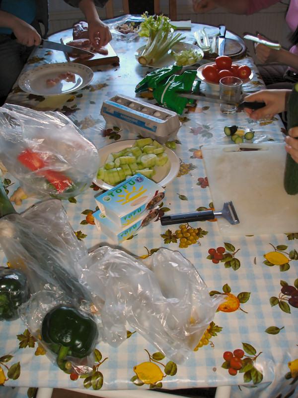 Vihanneksia löytyy